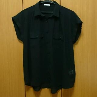 ジーユー(GU)のGU シースルーシャツ 値下げ(シャツ/ブラウス(半袖/袖なし))
