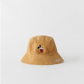 ザラ(ZARA)のZARAコーデュロイバケットハットミッキーマウス(帽子)