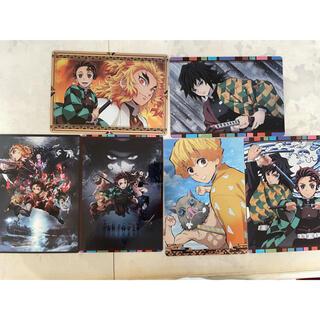 バンダイ(BANDAI)の一番くじ 鬼滅の刃 メタリックアートパネル 6種セット H賞 義勇 煉獄 (その他)