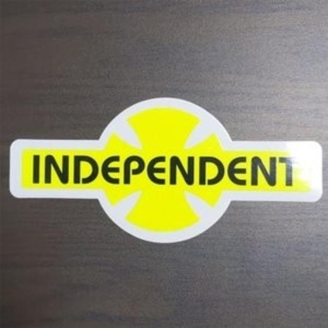 INDEPENDENT(インディペンデント)の(縦8.3cm横17.8cm) INDEPENDENT ステッカー スポーツ/アウトドアのスポーツ/アウトドア その他(スケートボード)の商品写真