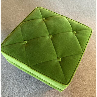 カリモクカグ(カリモク家具)のharuru様専用です カリモク60 オットマン モケットグリーン スツール(オットマン)