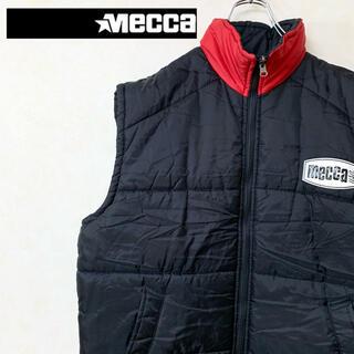 メッカ(MECCA)のmecca メッカ 90年代 古着 ダウンベスト バックロゴ 美品(ダウンベスト)