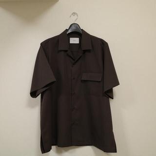 wool gabadine down pattern ss shirt(シャツ)