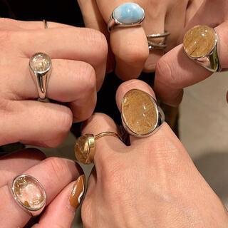 プラージュ(Plage)の期間限定値下げ★マリハ シルバーリング ゴールドルチルクォーツ 13号(リング(指輪))