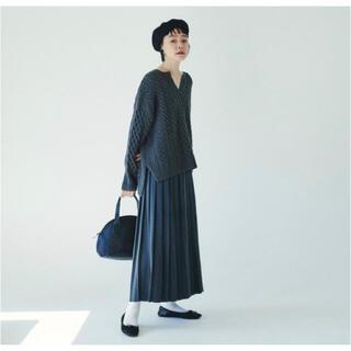 ピュアルセシン(pual ce cin)のピュアルセシン ロングプリーツ  黒 スカート(ロングスカート)