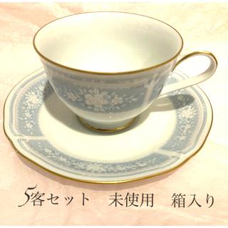 ノリタケ(Noritake)のNoritake カープ&ソーサー レースウッドゴールド 5客箱入り 未使用(食器)