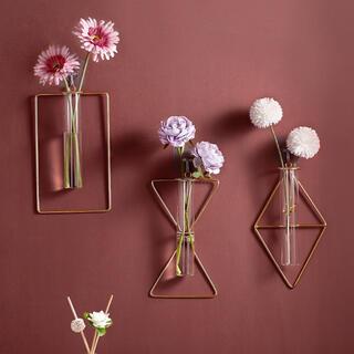 ZARA HOME - 【ダイヤ型】ワイヤーフラワーベース 壁掛け 花瓶 シンプル おしゃれ