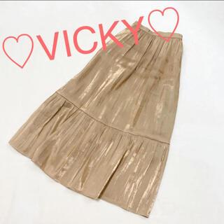 ビッキー(VICKY)のサテン / マーメイドスカート(ロングスカート)