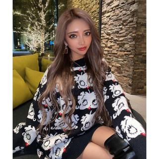 ジェイダ(GYDA)のベティ ベティちゃんセーター キャラクター ロゴ 刺繍 セーター(ニット/セーター)