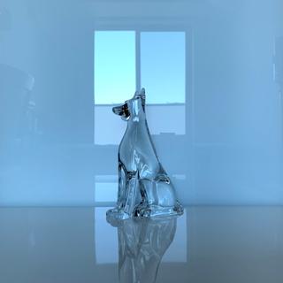 バカラ(Baccarat)の✯ 極レア 逸品 Baccarat ドーベルマン 犬 クリスタル 置物 ペット✯(置物)