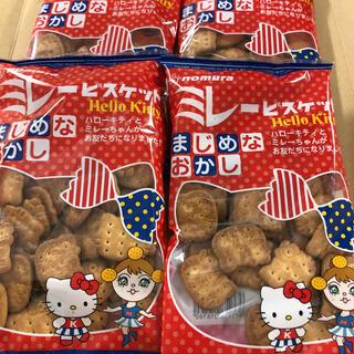 ハローキティ(ハローキティ)のキティ×ミレービスケット 4袋 (菓子/デザート)
