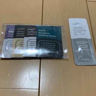 チャアンドパク(CNP)のklairs サンプル(化粧水/ローション)