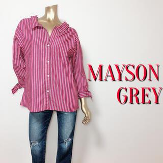 メイソングレイ(MAYSON GREY)のメイソングレイ ストライプ デザインシャツ♡セオリー トランテアン アプワイザー(シャツ/ブラウス(長袖/七分))