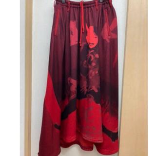 ヨウジヤマモト(Yohji Yamamoto)のyohji yamamoto 18aw 赤フラノスカート(その他)