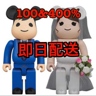 メディコムトイ(MEDICOM TOY)のBE@RBRICK グリーティング結婚 4 PLUS 400% 100% セット(キャラクターグッズ)