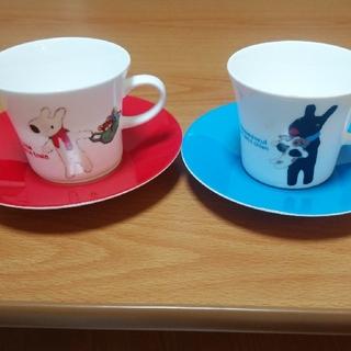 ニッコー(NIKKO)のリサとガスパール ペアコーヒーセット(グラス/カップ)