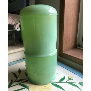 シセイドウ(SHISEIDO (資生堂))のレトロ 翡翠色の小物入れ 資生堂ノベルティ ガラス製(ガラス)