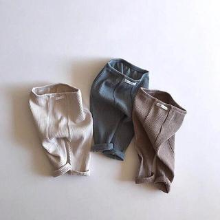 フタフタ(futafuta)のSALE  フォロー割あり リブ レギンスキッズ ベビー 韓国子供服 80(パンツ)