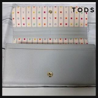 トッズ(TOD'S)のトッズ TODS 長財布 二つ折り グレー ライト レディース 総柄(財布)