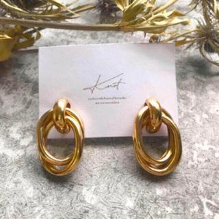 アズールバイマウジー(AZUL by moussy)のSALE!metal clip earrings-gold-(イヤリング)