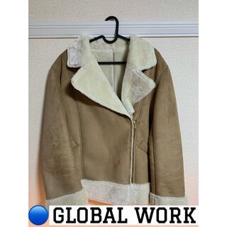 グローバルワーク(GLOBAL WORK)のGLOBAL WORK グローバルワークライダースジャケット ムートンコート(ライダースジャケット)
