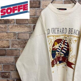 アンソフィーバックバック(ANN-SOFIE BACK/BACK)の●ソフィー●90s USA製 スウェット トレーナー 裏起毛 ホワイト 古着男子(スウェット)