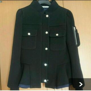 サカイラック(sacai luck)のsacai luck サカイラックウールフリルジャケットコート羽織(ノーカラージャケット)