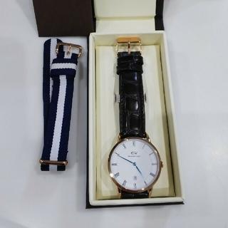 ダニエルウェリントン(Daniel Wellington)の腕時計ダッパー38ミリ ローズゴールド 本革レザーベルト替え交換ベルト付き(腕時計(アナログ))