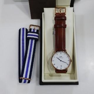 ダニエルウェリントン(Daniel Wellington)の腕時計ローズゴールド ダッパー34ミリ本革レザーベルト替え交換用セット(腕時計)