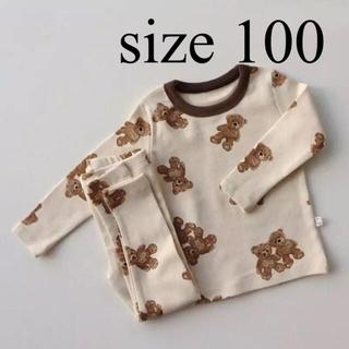 gelato pique - 【新品 100】くま柄 パジャマ セットアップ 韓国子供服