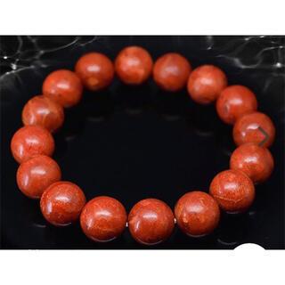 新品 3月誕生石 パワーストーン 希少天然サンゴ ブレスレット 大玉約12mm珠(ブレスレット/バングル)
