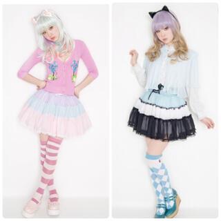アンジェリックプリティー(Angelic Pretty)の美品♡AMOちゃん パニエ スカート 2着セット ゆめかわいい(ミニスカート)