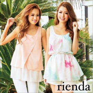rienda - rienda BIGフラワー シフォン トップス*リップサービス RESEXXY