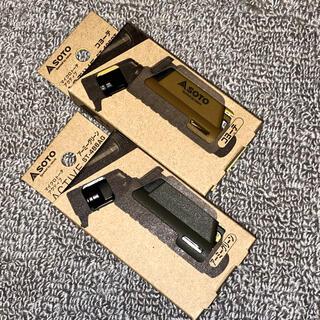 シンフジパートナー(新富士バーナー)の(SOTO)マイクロトーチ コヨーテ アーミーグリーン 2個セット ST-486(その他)