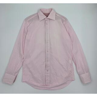 アバハウス(ABAHOUSE)のABAHOUSE アバハウス ストライプシャツ ピンク 38(シャツ)
