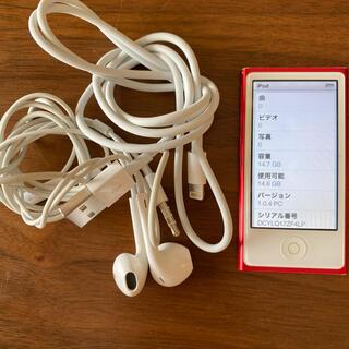 ipod nano 第7世代 red 16GB 充電コード イヤホン