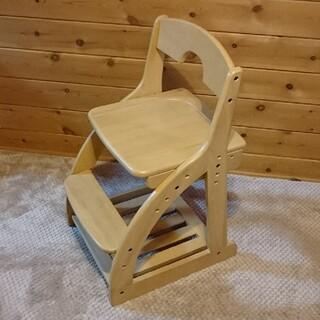 ニトリ(ニトリ)の(値下げ。早い者勝ち。)  学習チェア(学習椅子) 天然 木製(デスクチェア)