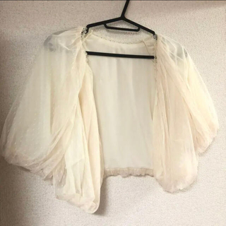 カーディガン ボレロ 結婚式 二次会 ドレス オフホワイト レース(ボレロ)