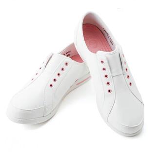 クロックス(crocs)の★crocs★クロックス アレイン ナース スニーカー  22ホワイト&ピンク(スニーカー)