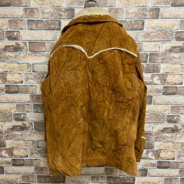 schott(ショット)の●ショット● 70s usa製 ランチコート スエード ボア ウエスタン メンズのジャケット/アウター(レザージャケット)の商品写真