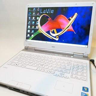エヌイーシー(NEC)の【綺麗な白】NEC/大容量/ブルーレイ/ノートパソコン(ノートPC)