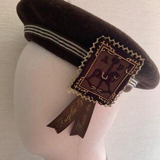 アンジェリックプリティー(Angelic Pretty)のAngelic Pretty ベレー帽ブラウン(ハンチング/ベレー帽)