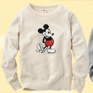 ユニクロ(UNIQLO)の新品 ユニクロ ディズニーコレクションクールネックセーター 120㎝(ニット)