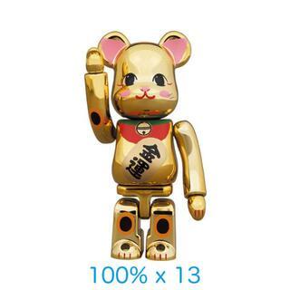 メディコムトイ(MEDICOM TOY)のBE@RBRICK 招き猫 金運 金メッキ 弐 100% 13体セット(その他)