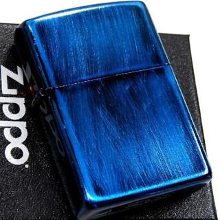 ジッポー(ZIPPO)の(送料込み)ZIPPO◇ダメージブルー◇新品◇ ジッポ(タバコグッズ)