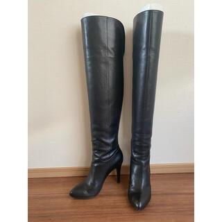 ダイアナ(DIANA)の【お値下げ】Diana ブラック ニーハイブーツ 美品(ブーツ)