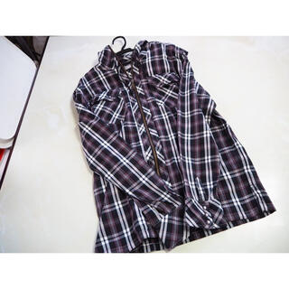 シマムラ(しまむら)のチェックシャツ(黒)(シャツ)