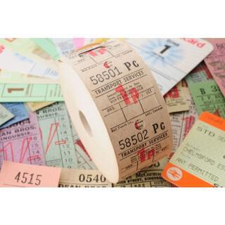 【オマケ満載】◆イギリス ヴィンテージ バス ロールチケット 1 TRANS◆(印刷物)
