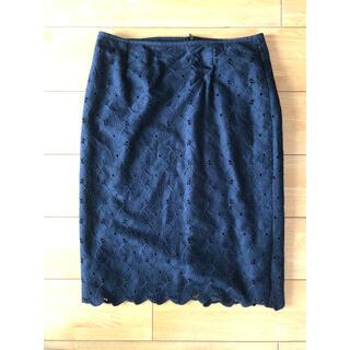 オペークドットクリップ(OPAQUE.CLIP)のレーススカート レースタイトスカート(ひざ丈スカート)