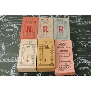 【味紙・お得】◆海外 イギリス ヴィンテージ バス チケット 6種300枚◆(印刷物)